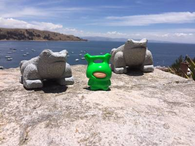 "11 WAKO.Kalibu with ""frog-friends"" overlooking Lake Titicaca - Best Of 16"