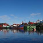 Blick auf die benachbarte Werft